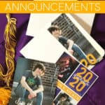 Graduation Announcements in envelopes