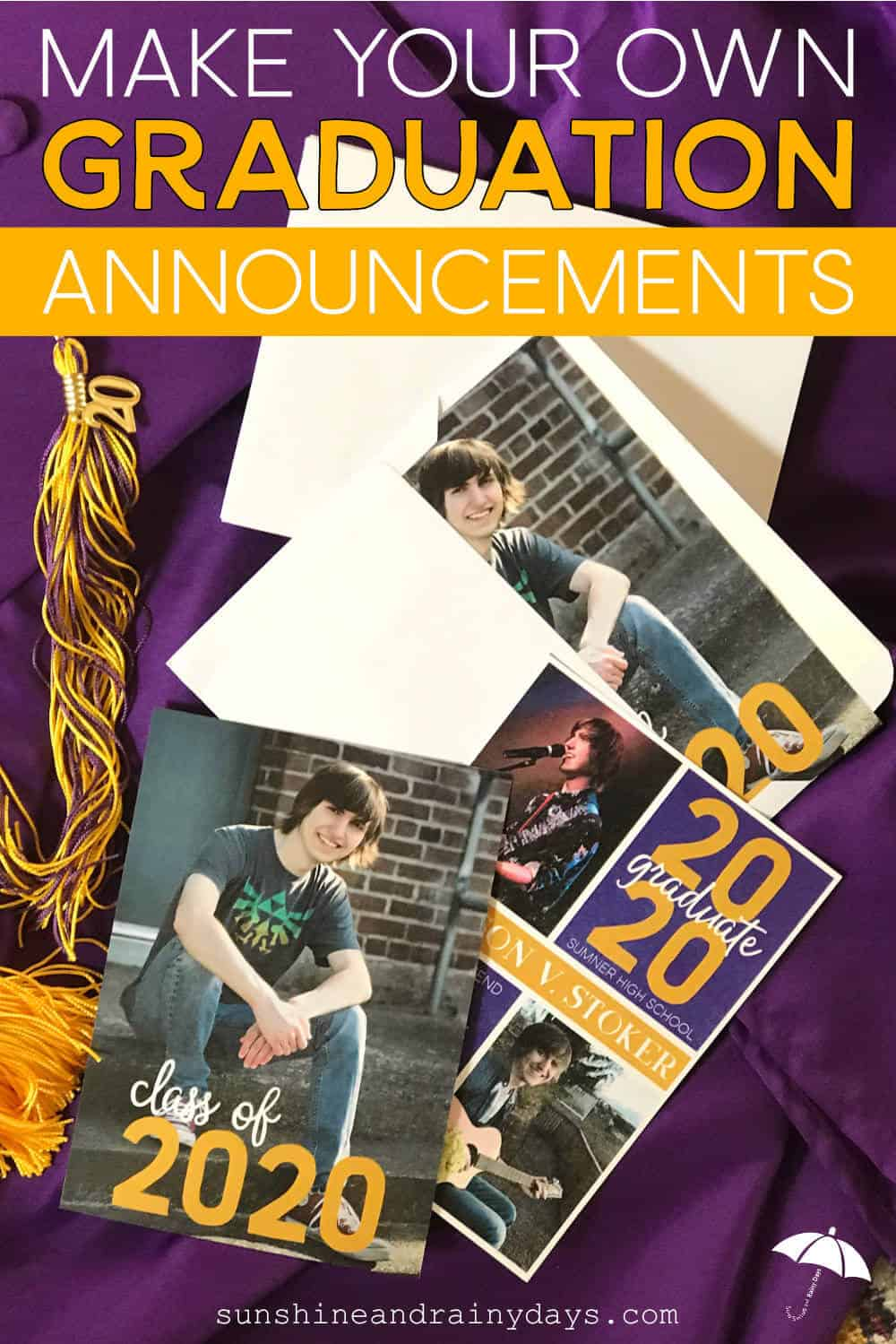 Graduation Announcements in envelopes