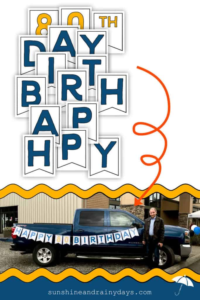 Happy Birthday Printable Letters made into a Birthday Banner