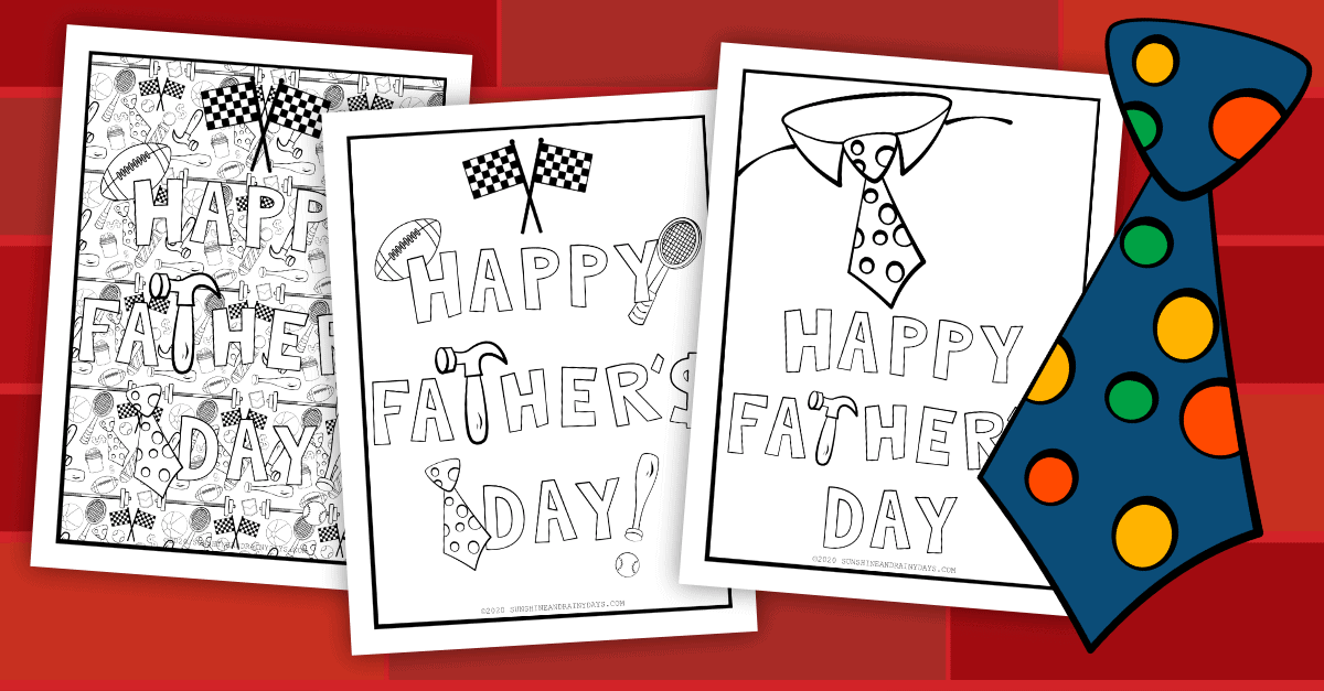 Father's Day Coloring Pages To Print At Home
