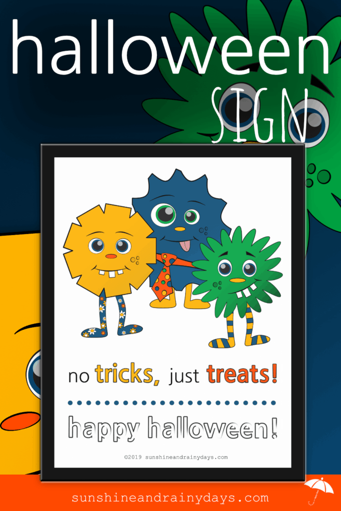 No Tricks, Just Treats Halloween Sign