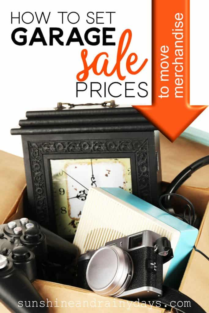 Garage Sale Items In A Box with the words: How To Set Garage Sale Prices