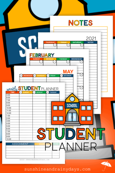 Student Planner Pages - n Color