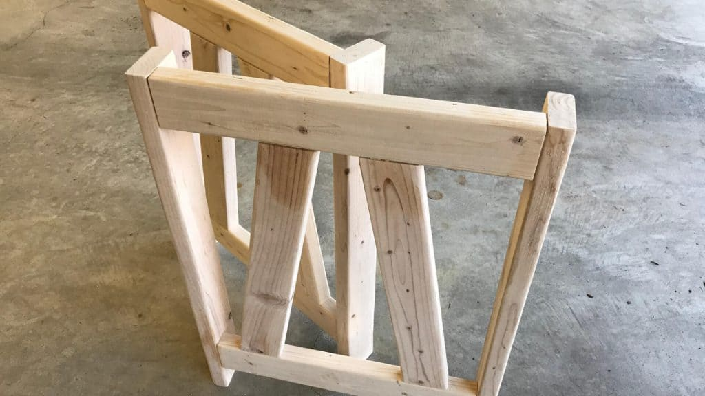 Two Desk Legs Built