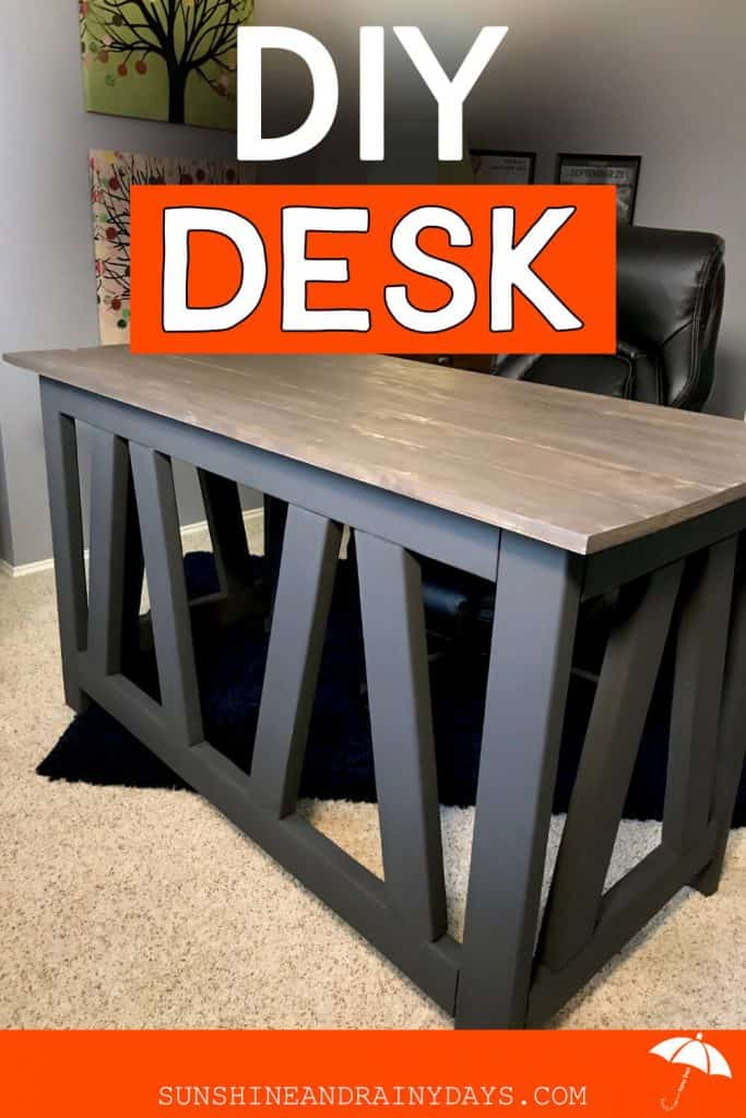 How To Build A Desk | Industrial Rustic Desk