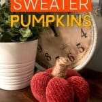 Sweater Pumpkin made from the sleeve of a sweater
