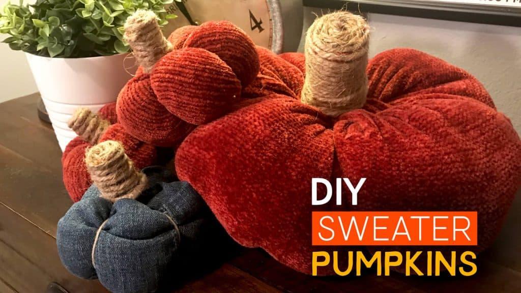 Sweater & Denim Pumpkins