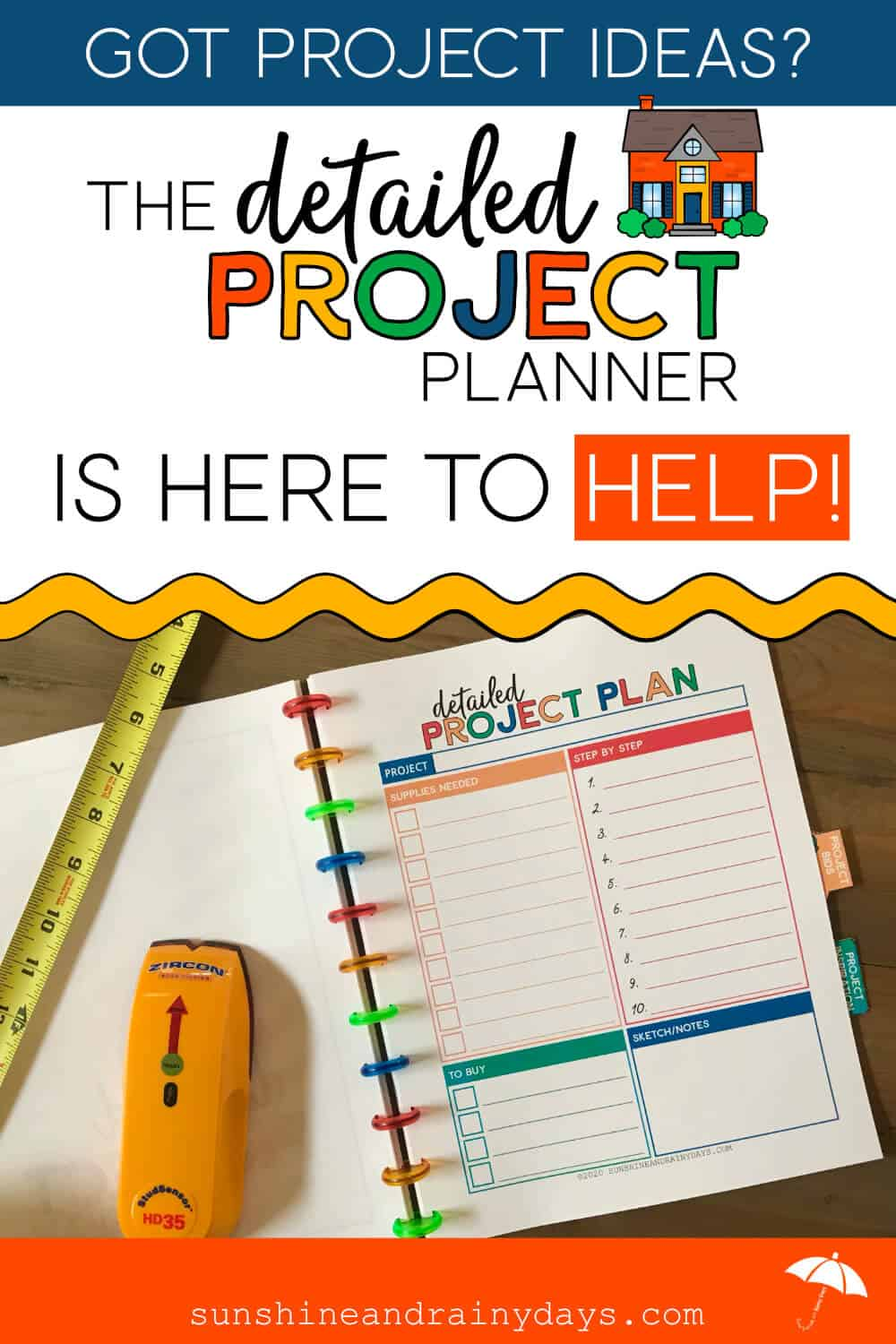 Detailed Project Planner Worksheet