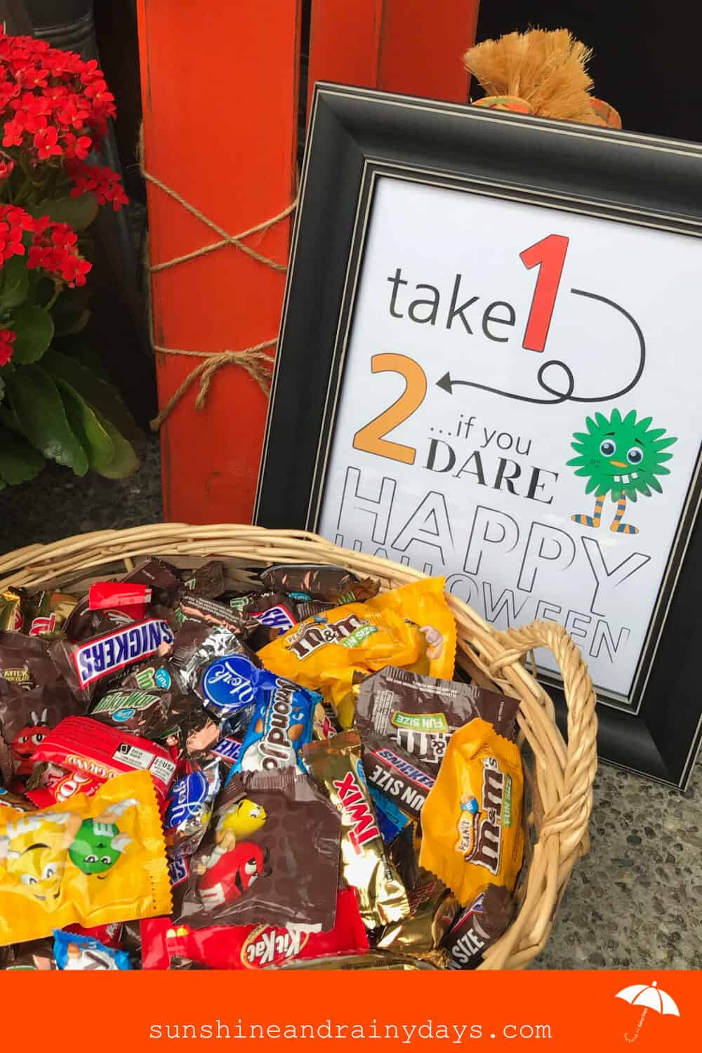 Take 1, ... 2 if you DARE! Trick Or Treat Sign