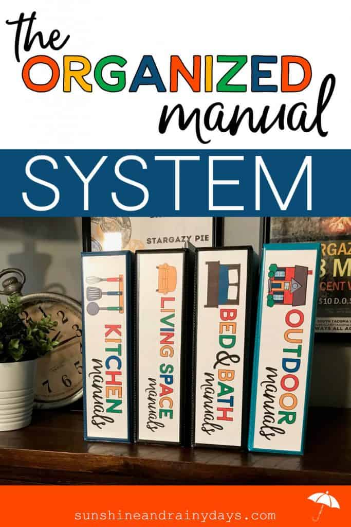 Manual Organization System In Binders