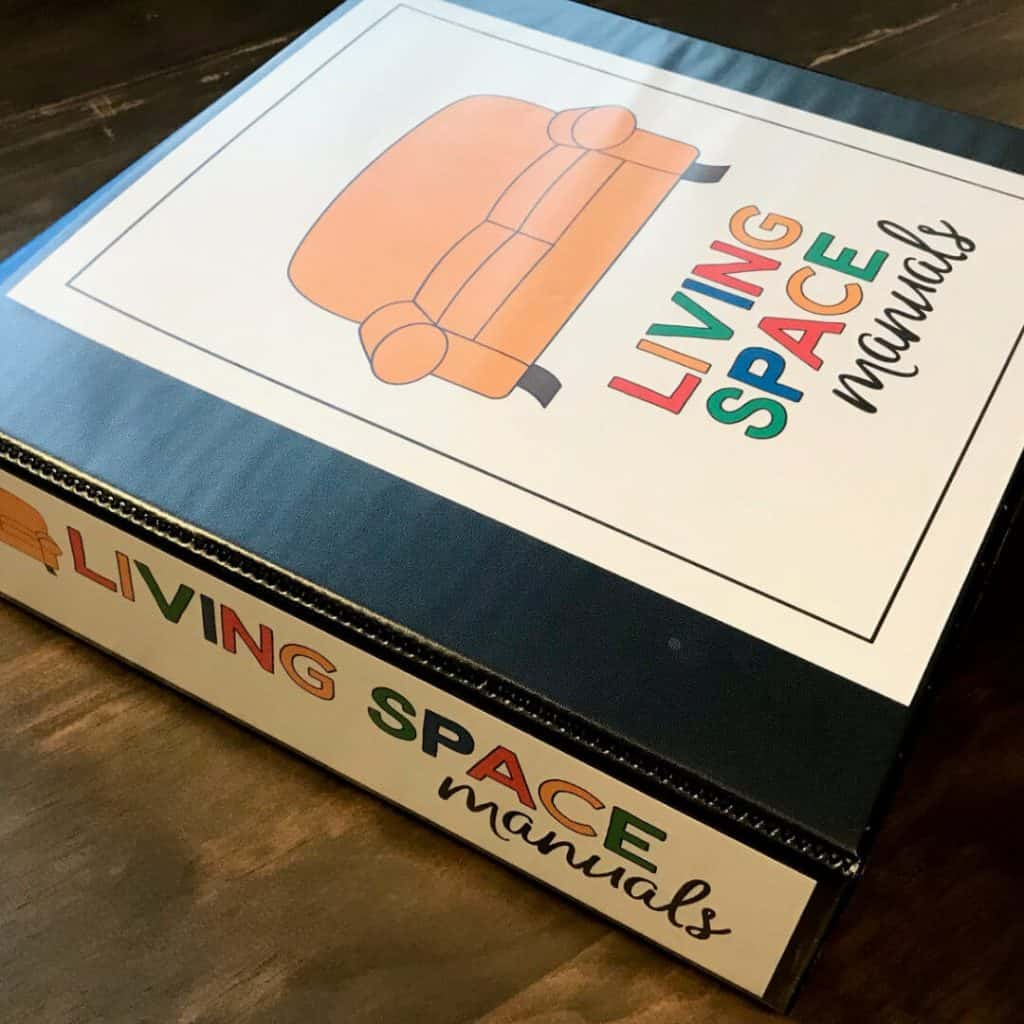 Living Space Manuals Binder