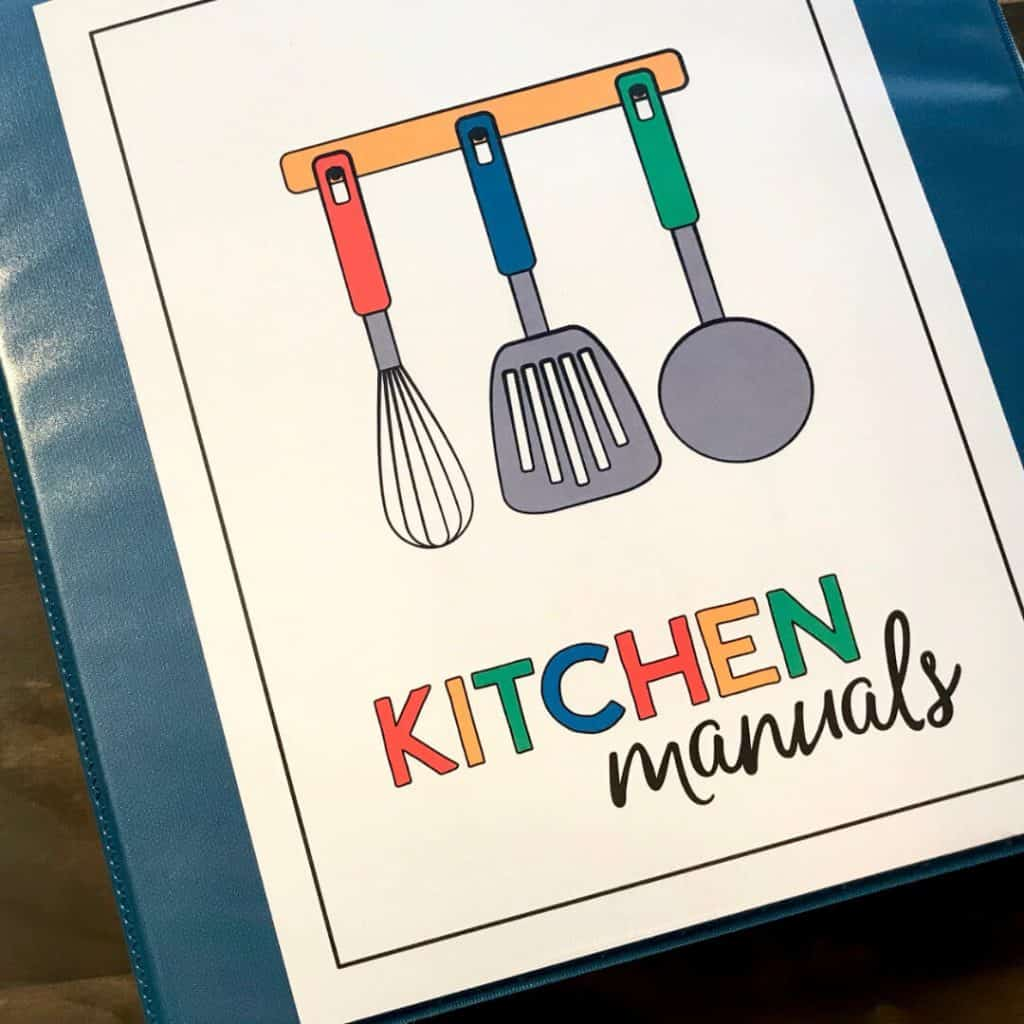 Kitchen Manuals Binder