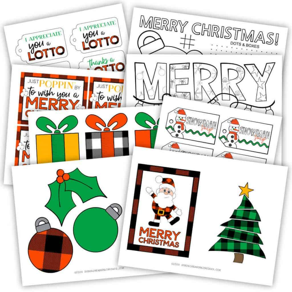 Christmas Party In A Box Printables
