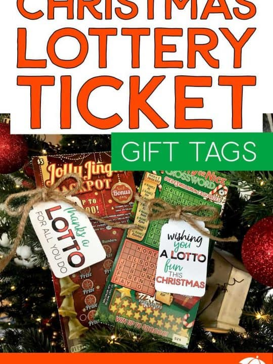 Lottery Ticket Gift Tags