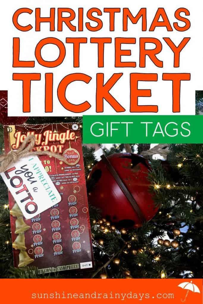 Christmas Lotto Gift Tag On Christmas Lottery Ticket
