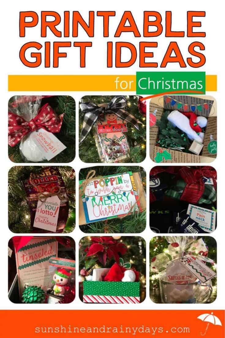 Printable Gift Ideas For Christmas