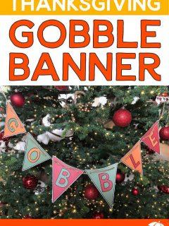 Thanksgiving Gobble Banner