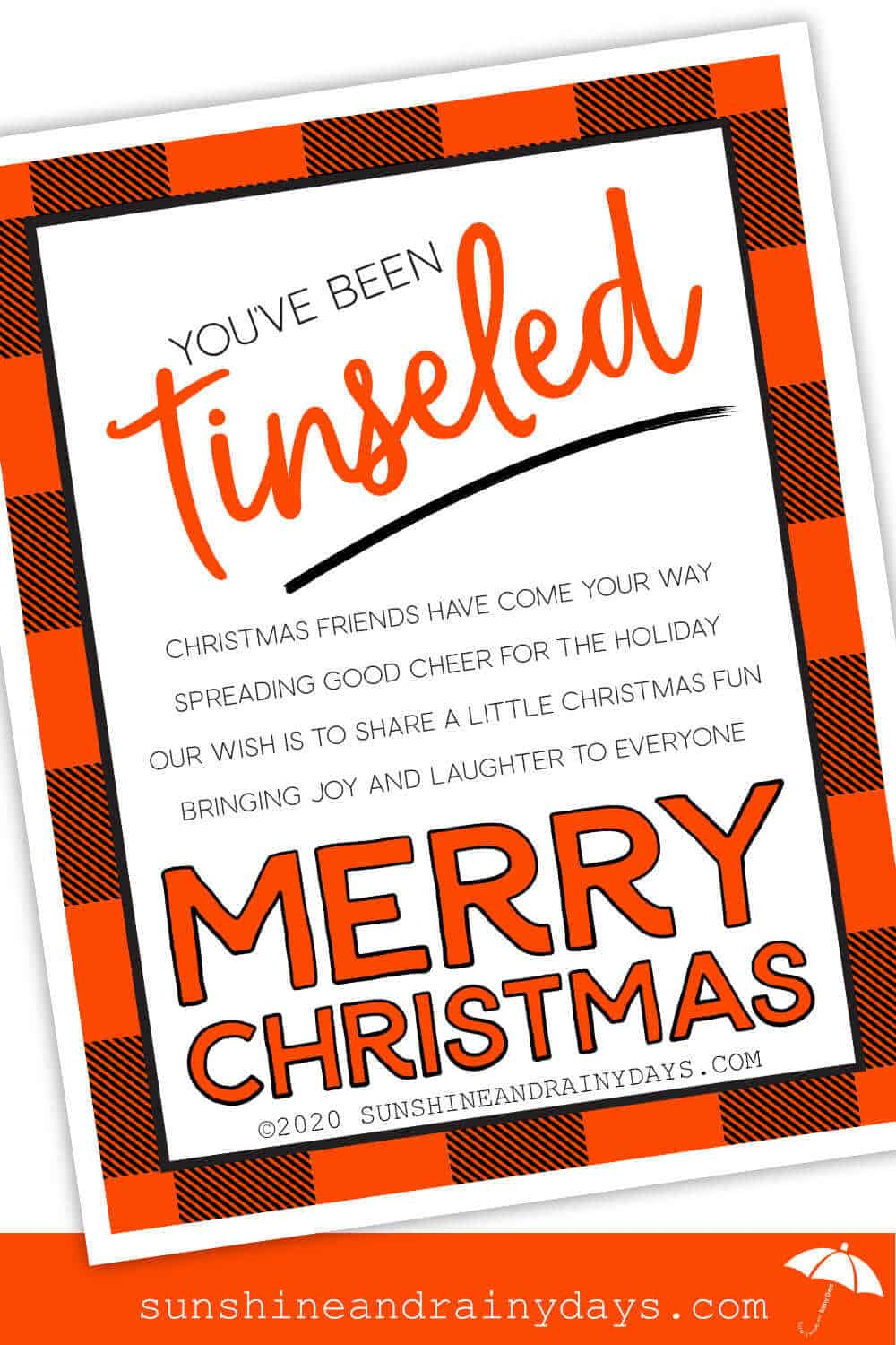 You've Been Tinseled Printable - Buffalo Plaid