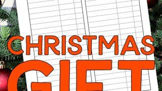 Christmas Gift Tracker Printable