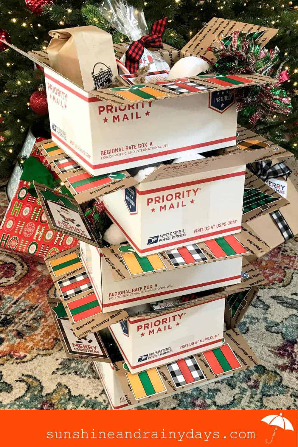 Stack of mini Christmas Parties In A Box