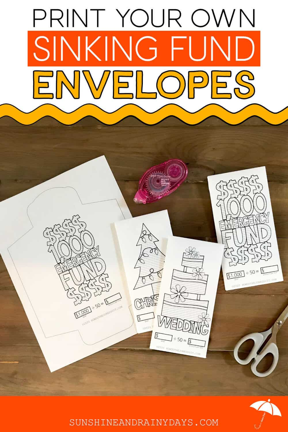 Sinking Fund Envelope Printables