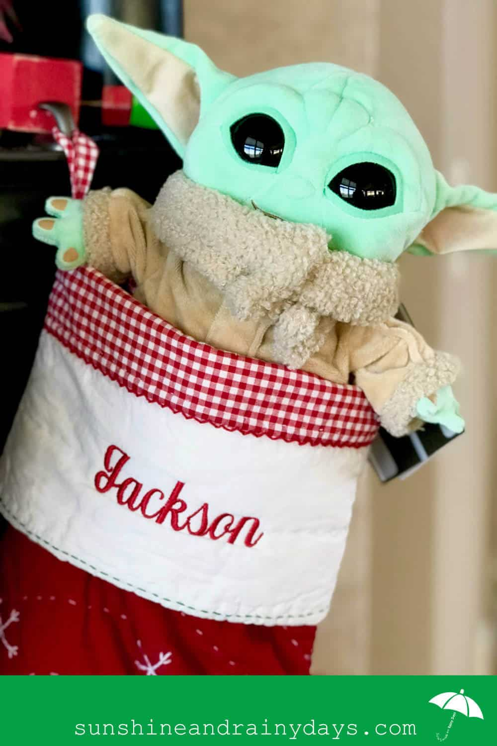 Baby Yoda In A Christmas Stocking