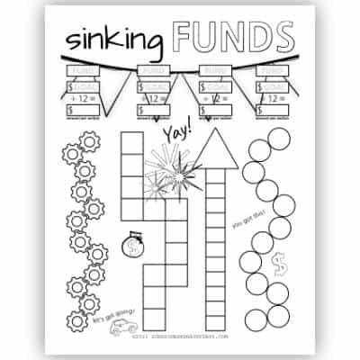 12 Month Sinking Fund Tracker - Black & White