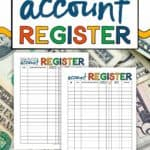 Printable Bank Account Registers