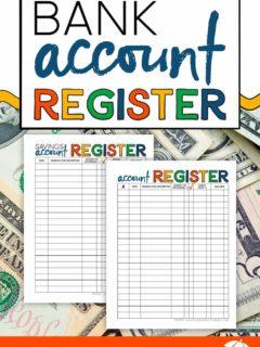 Printable Bank Account Registers