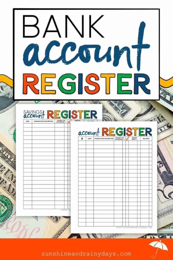 Tracking your bank accounts with good old paper and pen is the way to go! Our Bank Account Register is here to help! Add it to your Financial Binder and never lose track again!