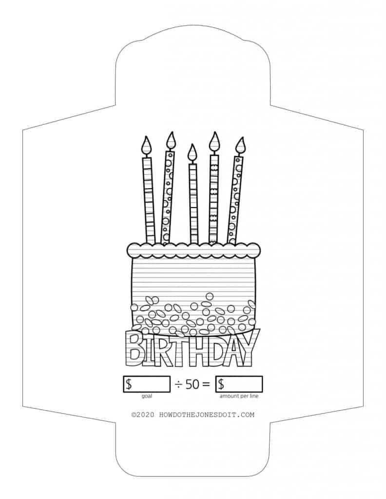 Birthday Sinking Fund Envelope Printable
