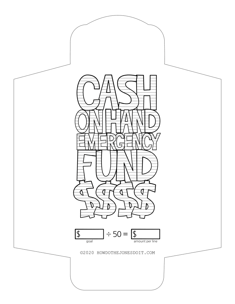 Cash On Hand Sinking Fund Envelope Printable