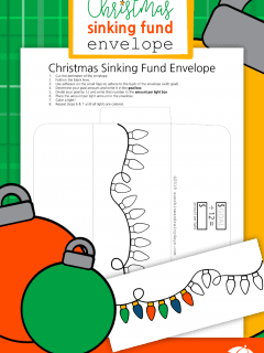 Christmas Sinking Fund Envelope Printable