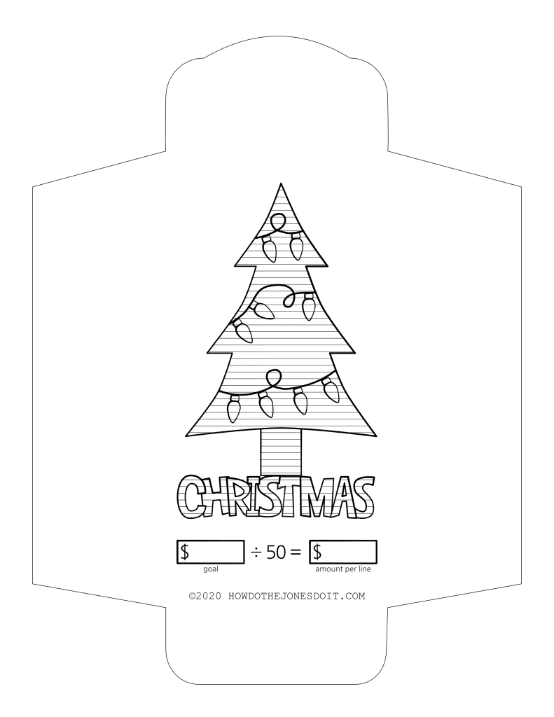 Christmas Sinking Fund Envelope Printable