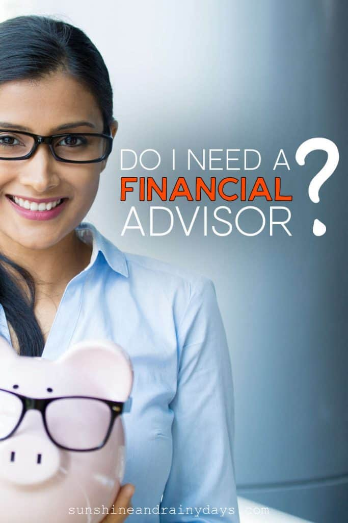 Lady holding a piggy bank with the words: Do I Need A Financial Advisor?
