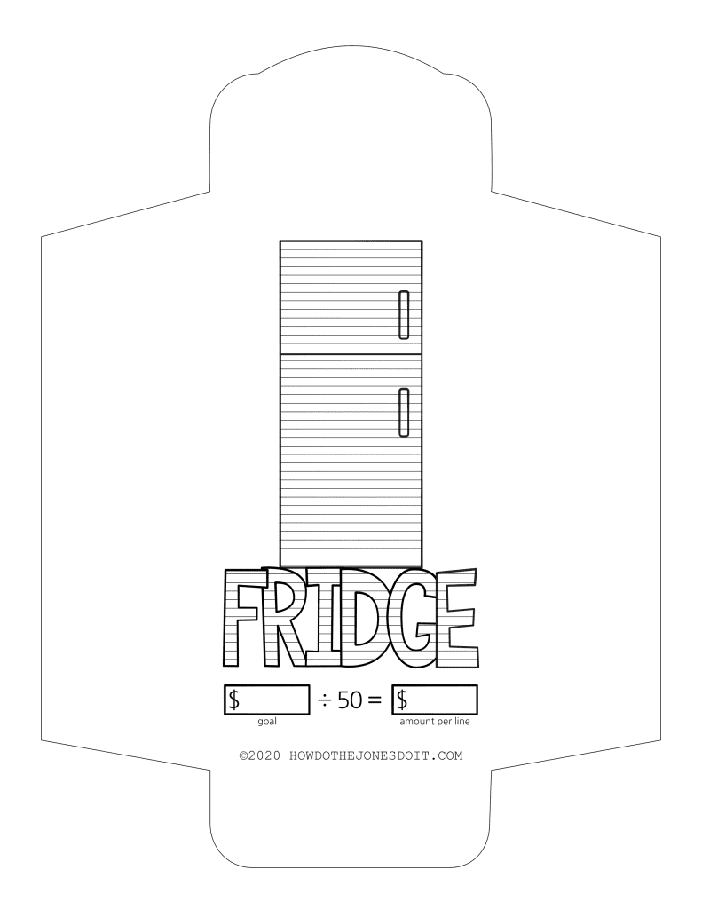 Fridge Sinking Fund Envelope Printable