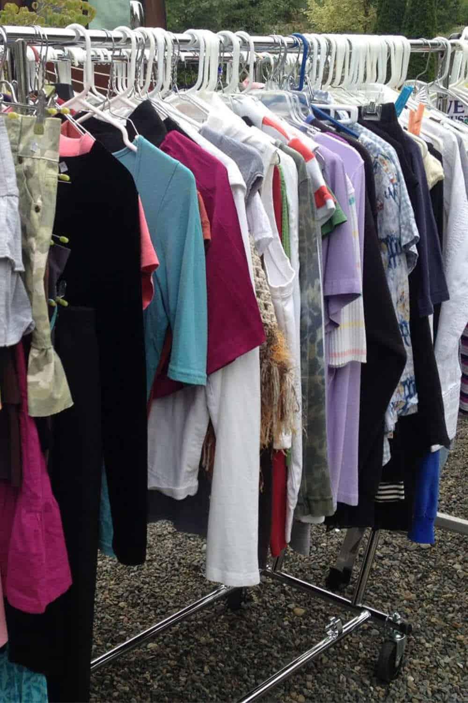 Garage Sale Clothing Rack