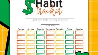 Money Habit Tracker Printable