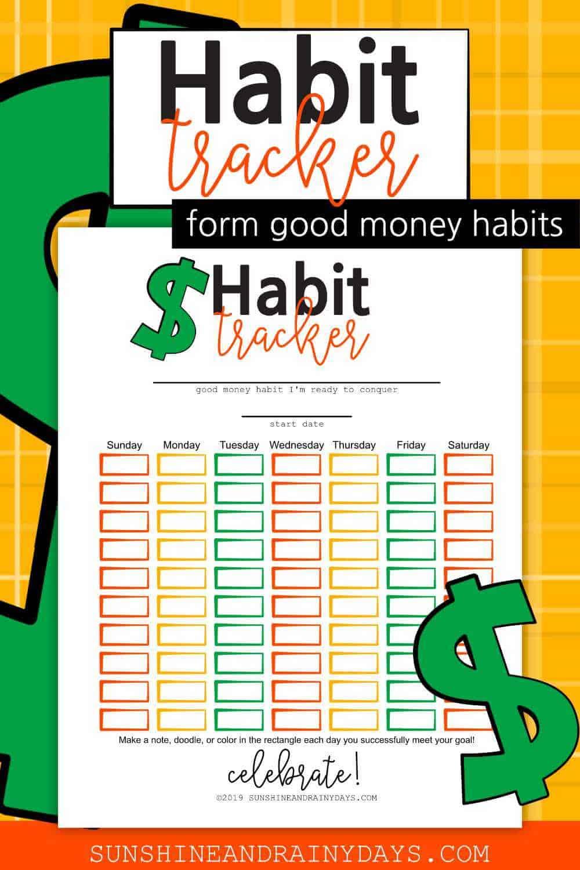 Money Habit Tracker Printable