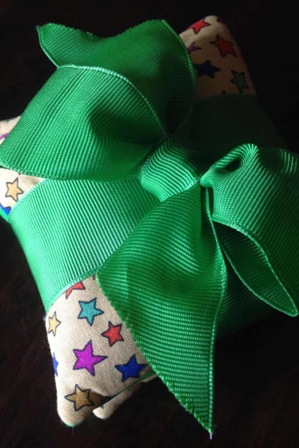 Handwarmers wrapped up in ribbon