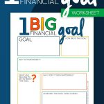 One Big Financial Goal Worksheet