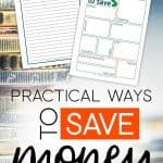 Ways to save money Printables with the words: Practical Ways To Save Money