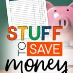 Piggy Bank with the words: Stuff To Save Money For