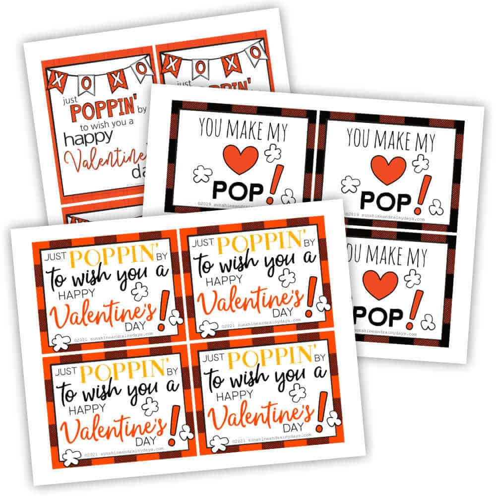 Valentine Popcorn tag.