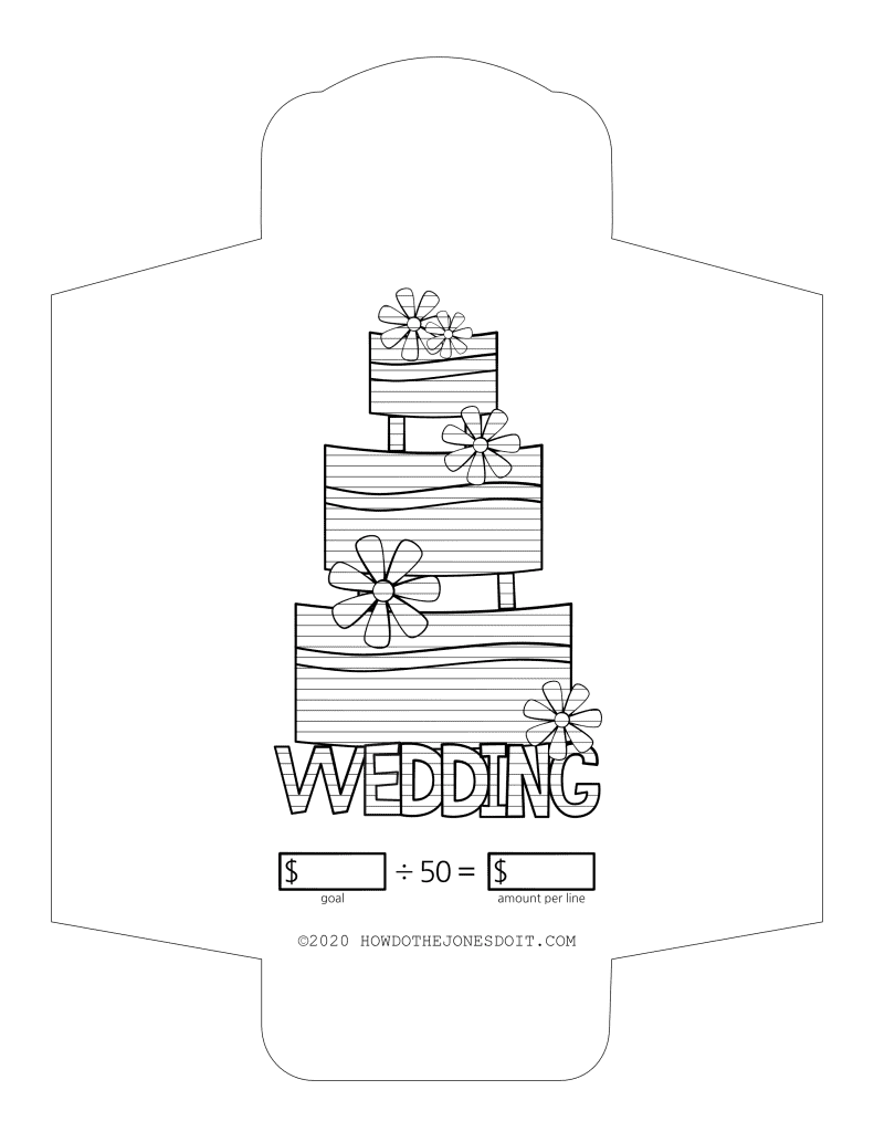 Wedding Sinking Fund Envelope Printable