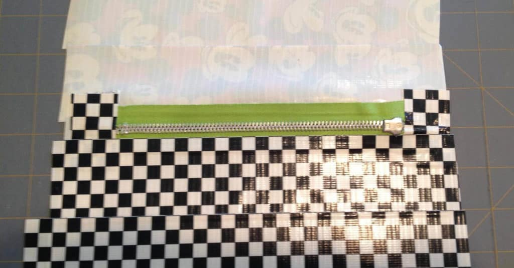 Adhering Duck Tape For The Inside Of The Duck Tape Zipper Pouch