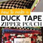 Duck Tape Zipper Pouch