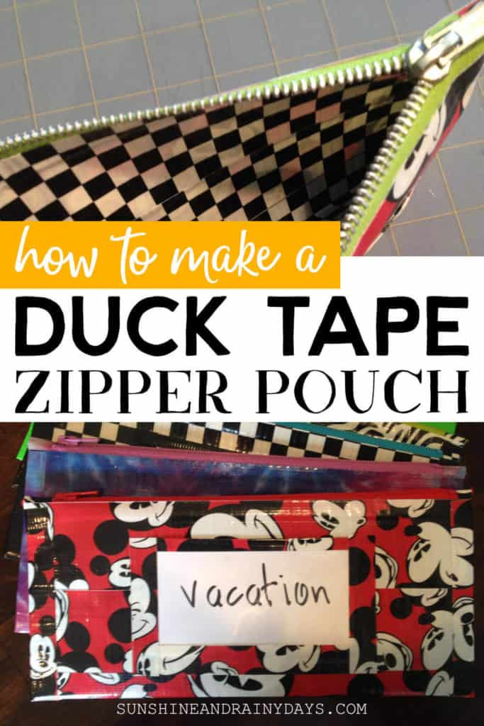 How to Make a Duck Tape Pouch with a Zipper