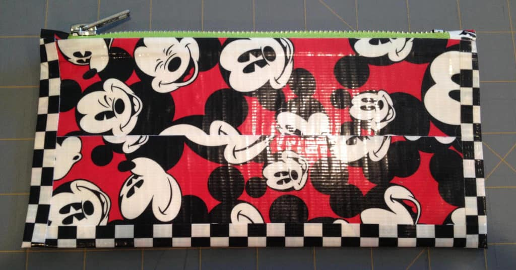 Duck Tape Zipper Pouch with trim.