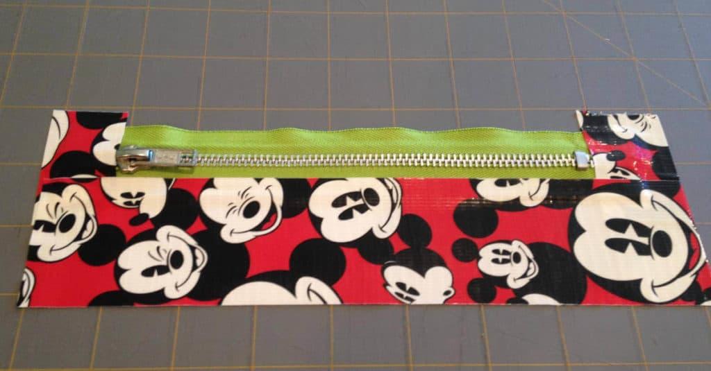 Duck Tape Zipper Pouch Zipper Reinforcement
